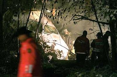 Cockpit der abgestürzten Crossair 3597