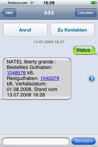 Restguthaben-SMS