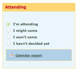 I\'m attending