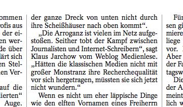Ausriss aus Spiegel-Artikel «Wilhelm und der Grubenhund»