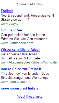 Google-Ads Gottkennen 2006-09-27