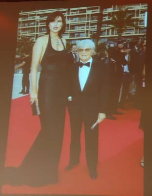 Bernie Ecclestone und Frau