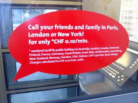 Swisscom-Werbung