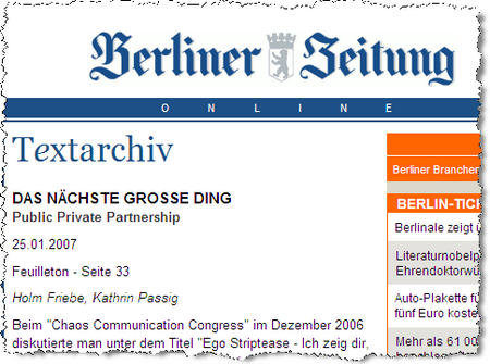 BerlinerZeitung 2007-01-30