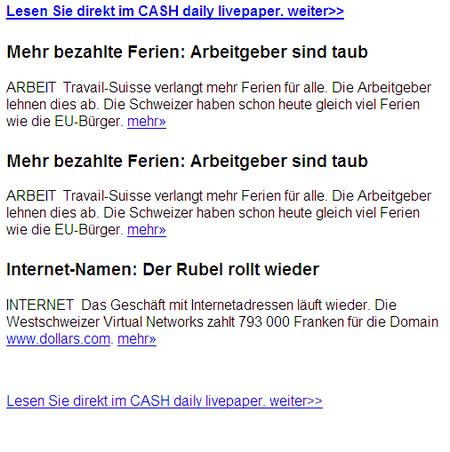 cash-daily-newsletter 2007-07-12