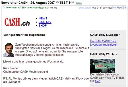 CASH Test3 2007-08-25