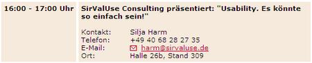 SirValUse Presse 2007-08-30