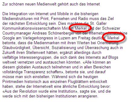 kleinreport schoeneneueMedienwelt Merkel 2007-09-21