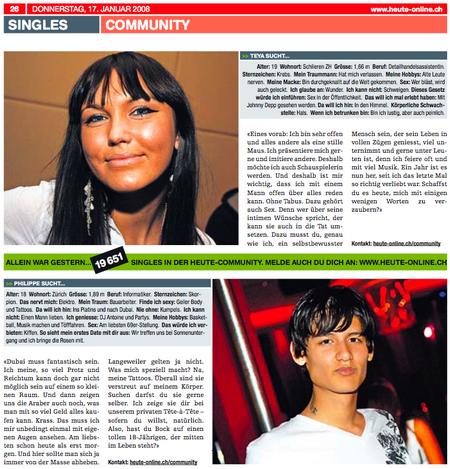 heute Singles 2008-01-17