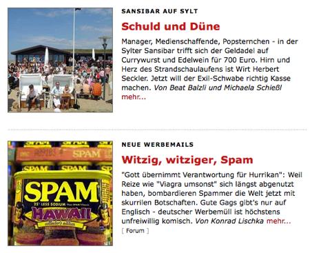 Spiegel Online: «Schuld und Düne»