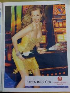 Anzeige «Baden im Glück» vom 9.10.2008