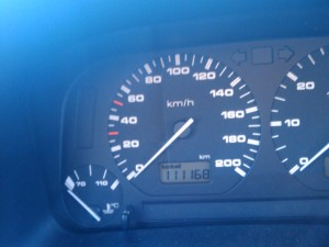 «111168» auf dem Polo-Kilometerzähler